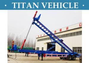 China 2 Axle Container Tipper Trailer , 40 Ft Skeleton Container dump Trailer on sale