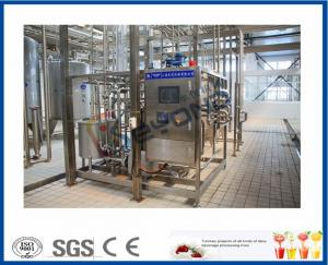 China SUS304 Small Scale Milk Pasteurization Equipment , PLC Touch Screen Dairy Tech Pasteurizer on sale