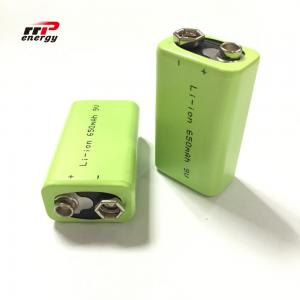 China 2000 Cycles Lithium Ion Rechargeable Batteries 9V 650mAh Interphone Medical Device on sale