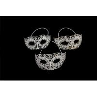 China Venetian Crystal Masquerade Mask Crystal Bridal Jewelry Rhinestone Mask for Party MK005 on sale