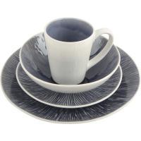 Popular 16pcs Stoneware Dining Set , Crackle Reactive Glazed Dinner Set