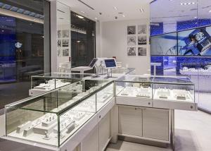 Quality LED Lights Decorated Custom Glass Display Cases / Shop Display Cabinets for sale