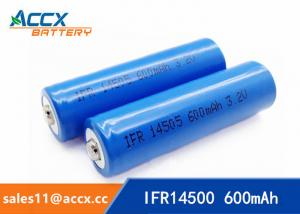 China shaver battery lithium ifr14500 3.2v 600mAh AA rechargeable battery on sale