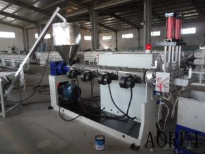 China PP/PE Single Screw Extruder , PP / PE Plastic Granule Machine Washed Film Granule Recycled on sale