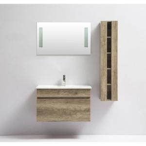 China Small Corner Wood Colour Modern Bathroom Vanities Finger Pull Opening Door on sale