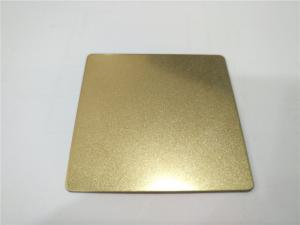 China Sand blast champagne color decorative stainless steel metal sheet made in china on sale