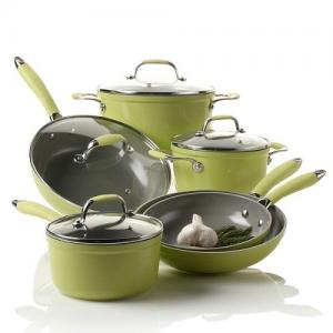 China 10 Piece Forged Aluminum Nonstick Pan Set With Plastic Handle on sale