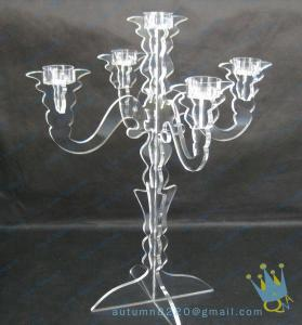 China Wedding Decoration Candle Holders In Acrylic on sale