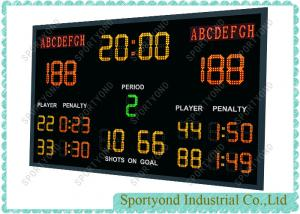 China Hockey LED Scoreboard , Handball Electronic Scoreboard With Wireless RF Console on sale
