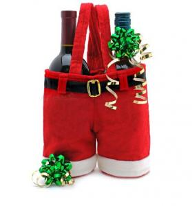 China Christmas Wine Bottle Tote Bag on sale