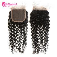 Natural Wave Brazilian Curly Lace Closure 4×4 Inches With Baby Hair