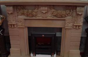 China Buliding decoration marble and granite stone Fireplace statue on sale