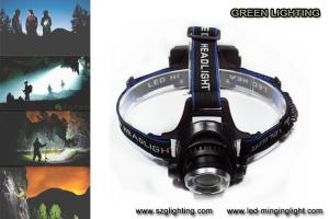 China 1000lumen CREE XML T6 LED rechargeable headlamp with adjustable lighting spot on sale