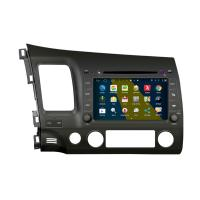"8"" 2DIN android 4.4.4 car DVD GPS navigation HD 1024*600 for HONDA CIVIC with WIFI 4G mirror link 4 core CPU"