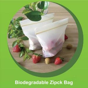 China Safe Biodegradable Ziplock Bags Embossing Surface Handling 12cm X 17cm Size on sale