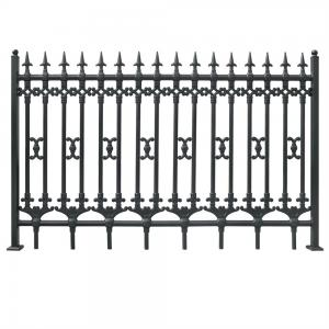 China Euro Steel Fence for residential fencing model DK001 on sale
