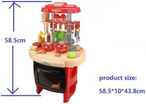 Red Color Pretend Play Childrens Toy Kitchen Sets With Sound ...