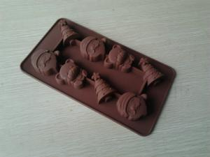 China Christmas Non-stick Silicone Chocolate Mould ,Durable Flexible Silicon Bakeware on sale