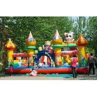 Customizable Size Inflatable Trampoline Toys , Inflatable Children Park