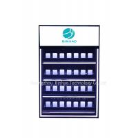 Customized 3 Layer LED Light Acrylic Display Cabinets For Cigarette / Tobacco