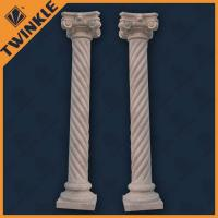Natural Stone Hand Carved Columns / Solid Columns For Outdoor Decor