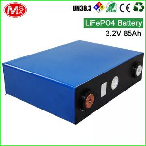 China Deep cycle life 3.2V 85AH LiFePO4 battery cell for home solar energy system on sale