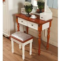 Antique concise style dressing table with mirror drawer dresser