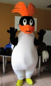 Quality Custom Cartoon Character penguin mascot costumes with little cool fan for hot for sale
