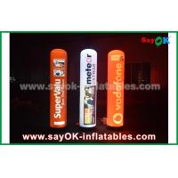 China 190T Nylon Cloth Inflatable Lighting Decoration , 2m Advertising Inflatable Pillar With LED Lighting on sale