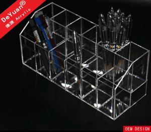China Handmade Acrylic Pen Holder Display / Plexiglass Pen Organizer on sale