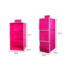 China Hanger Organizer Non Woven Storage Boxes Closet Hanging Storage Bags Rose on sale