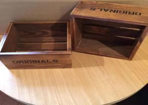 China Dark Wood Engraved Custom Wood Serving Tray , Small Wooden Trays Boxes For Cigar on sale