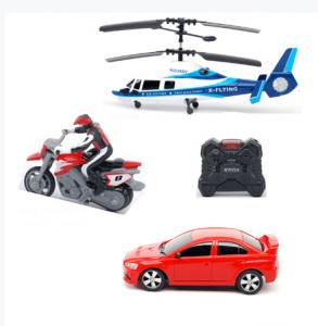 China R/C 3 in 1 Group, RC Helicopter, RC Car,RC Motorcycle bike Group on sale