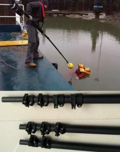 China 10 m 33 feet length portable Carbon fiber Telescopic reach and rescue poles on sale