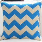 Chevron zigzag cushion,wavy stripe print cushion,chevron with beard moustache cushion