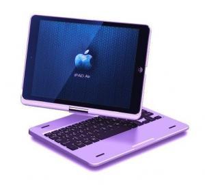 China Wireless iPad Air Bluetooth Keyboard 360 Degree Rotatable case on sale