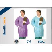 Snap Buttons Disposable Lab Coats , Medical Protective Gown for Children / Adults
