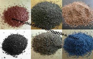 China Sea Blue / Light Yellow / Dark Roof Granules , Ceramic Colorful Granule on sale