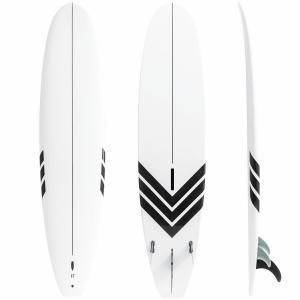 China White Color 8'6 Fiberglass Longboard Surfboard With 15LB Net Weight on sale