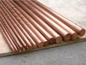 China Flat Round Solid Copper Bars Raw Material , Solid Copper Rod Polished Surface on sale