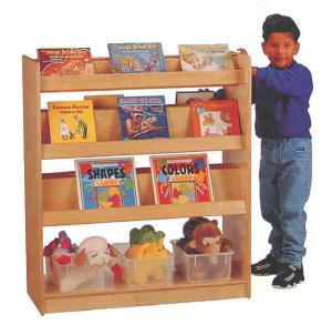 Quality Kids Furniture Bookshelf For Preschool Classroom H 08503 Sale