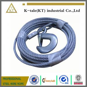 China 100' galvanized steel wire rope sling with a snap hook on sale