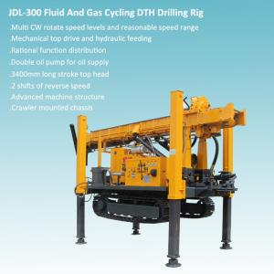China Crawler Mounted Mechanical Top Head And hydraulic Feeding DTH Drilling Rig on sale