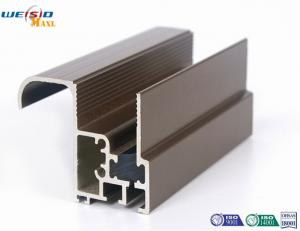 China Aluminum Construction Profiles Sliding Windows With Coffee Powder Coated / Double Glazed on sale