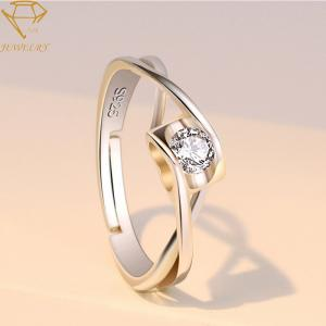 China AAA CZ Stones Adjustable Personalized Silver Ring For Women on sale