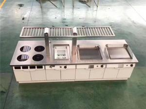 China Restaurant Hotel Kitchen Equipment Project List Depth 900Mm induction Modular Cooking Line on sale