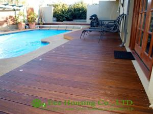 China Eco-friendly Outdoor Bamboo Flooring, Enviromental VOs Finish on sale