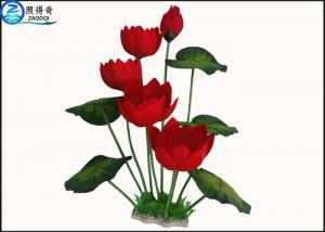 China Colorful Flower Plastic Simulation Artificial Plants For Aquarium Tank Decoration on sale