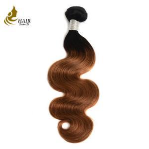 China Ombre Brazilian Body Wave Hair / 1B 30 Two Tone Remy Human Hair Weave Bundles on sale