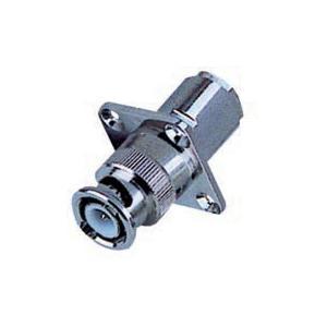 China Connecteur masculin matériel de panneau de cuir embouti de zinc/en cuivre BNC du câble RG58/59/6U on sale